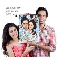Caricature Poster A3 (couple)