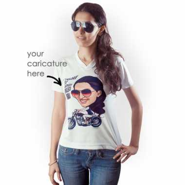 Caricature Tshirt for Her