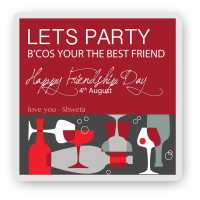 Lets Party - Friendship Day Magnet