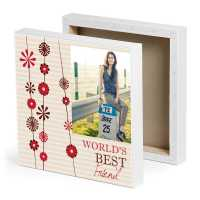 World's Best friend Photo Canvas