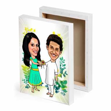 Caricature Canvas - Rakhi Gifts