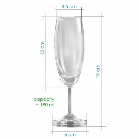 champagne glass description