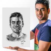 Personalized Pencil Sketch - Him - Canvas