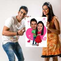 Couple in Love - Caricature Canvas