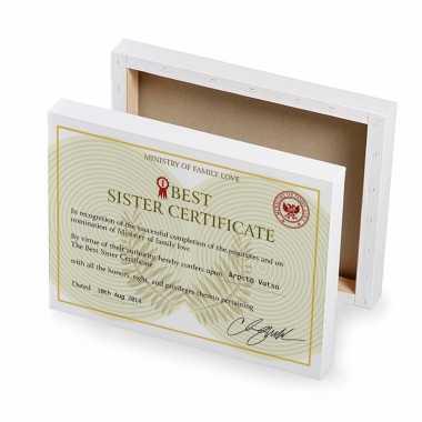 Best Sister Certificate