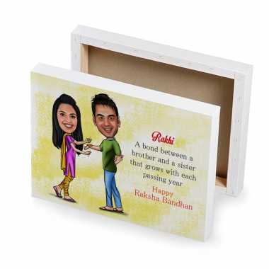 Happy Rakhi - Caricature Canvas