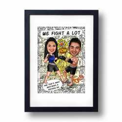 We Fight A Lot - Caricature Frame