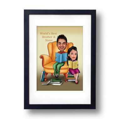 Best Brother Sister - Caricature Frame