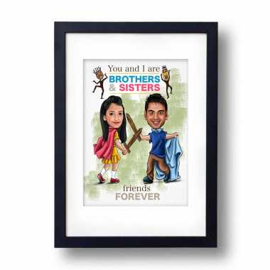 Knight- Knightess - Caricature Frame