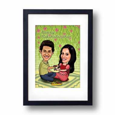 Traditional Bro/Sis - Caricature Frame