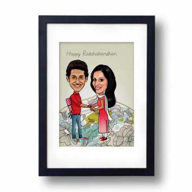 World's Best Brother-Sister - Caricature Frame