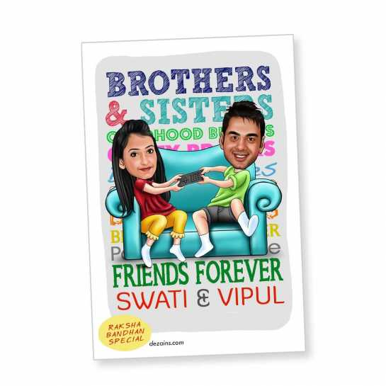 Friends Forever - Caricature Magnet