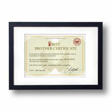 Best Brother Certificate - Frame