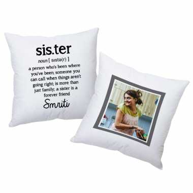 Sister - Personalized Photo Cushions - Set of 2