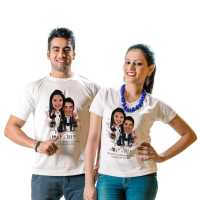 Love - Life - Caricature T-shirt for Couples
