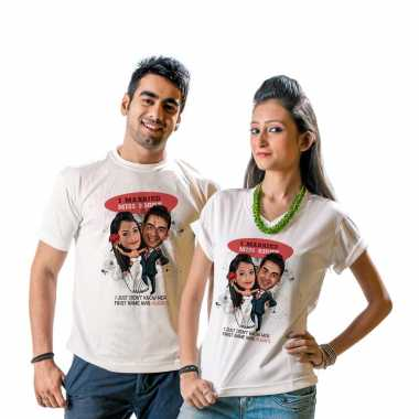 Mr and Miss Right - Caricature T-shirt for Couples