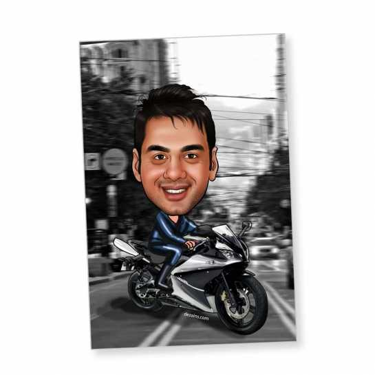 Biker - Caricature magnet