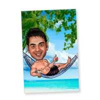 Beach boy - Caricature magnet
