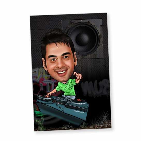 DJ - Caricature magnet