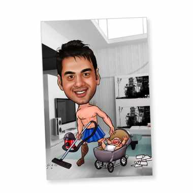 Home-keeper - Caricature magnet
