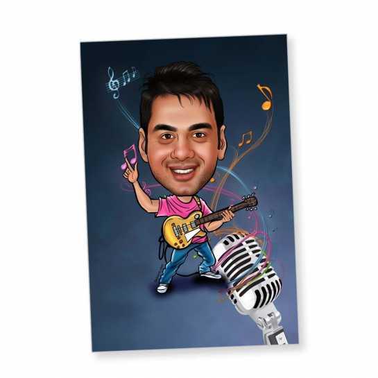Musician - Caricature magnet