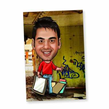 Painter - Caricature magnet