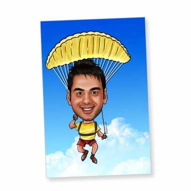 Parachute - Caricature magnet
