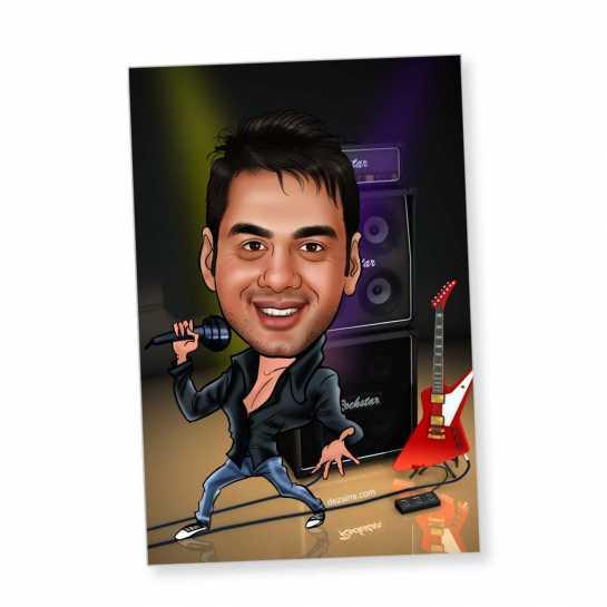 Rockstar - Caricature magnet