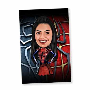 Spider Girl - Caricature magnet