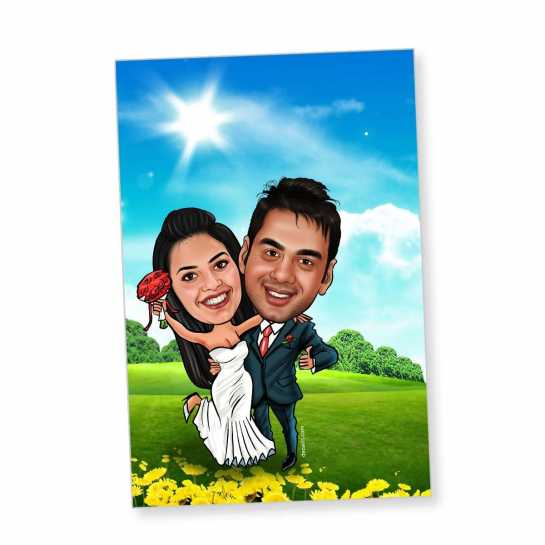 Super Couple - Caricature magnet