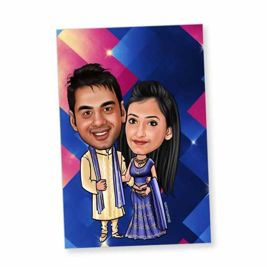 Ethnic Couple - Caricature magnet