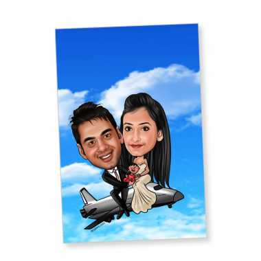 Flying Away - Caricature magnet