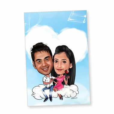 On Cloud 9 - Caricature magnet