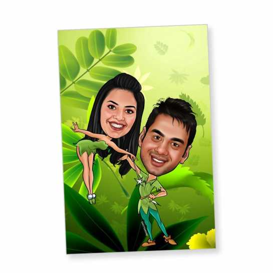 Green Coupole - Caricature magnet