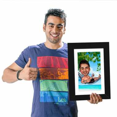 Beach Boy - Caricature Photo Frame