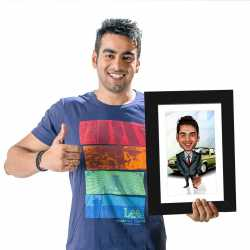 Businessman - Caricature Photo Frame
