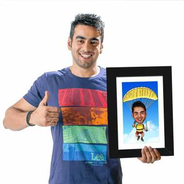Parachute - Caricature Photo Frame