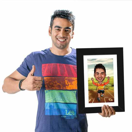 Running - Caricature Photo Frame