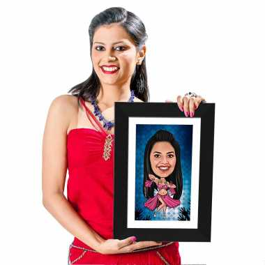 Dancing Girl - Caricature Photo Frame