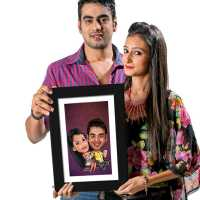 Theater Couple - Caricature Photo Frame
