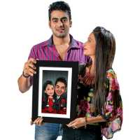 Party Couple - Caricature Photo Frame