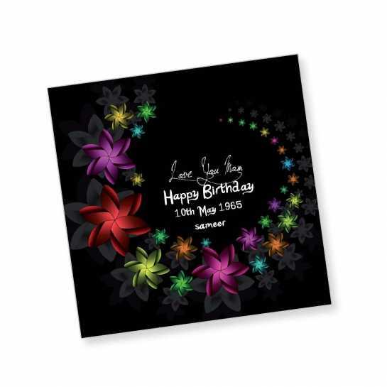 Happy Birthday Magnet - Small Stars
