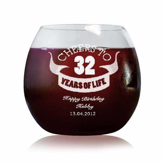 Happy Birthday Hubby - Stylish Wine Glasses