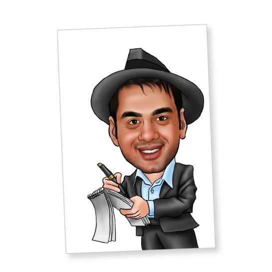 Journalist - Caricature Fridge Magnet