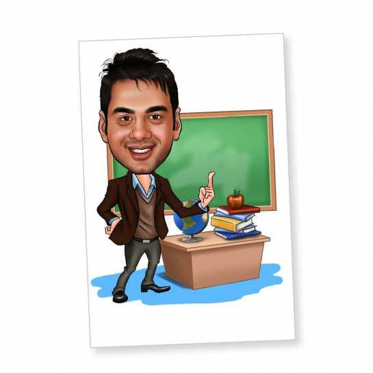 Teacher - Caricature Fridge Magnet