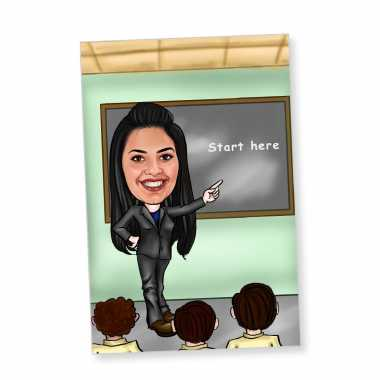 Teacher - Caricature Fridge Magnet