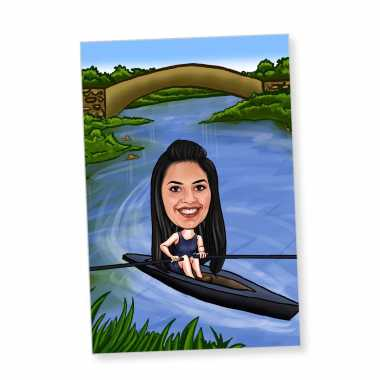 Kayaking - Caricature Fridge Magnet