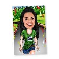 Running - Caricature Fridge Magnet