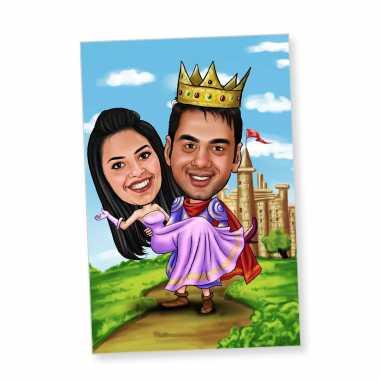 Royal - Caricature Fridge Magnet