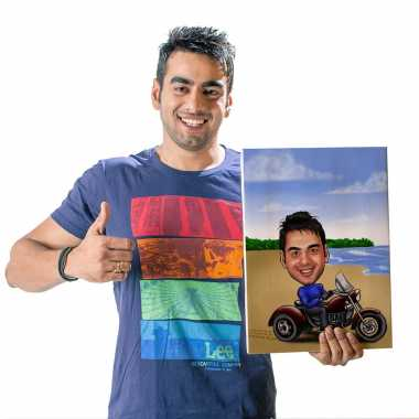 Motorsport - Caricature Canvas